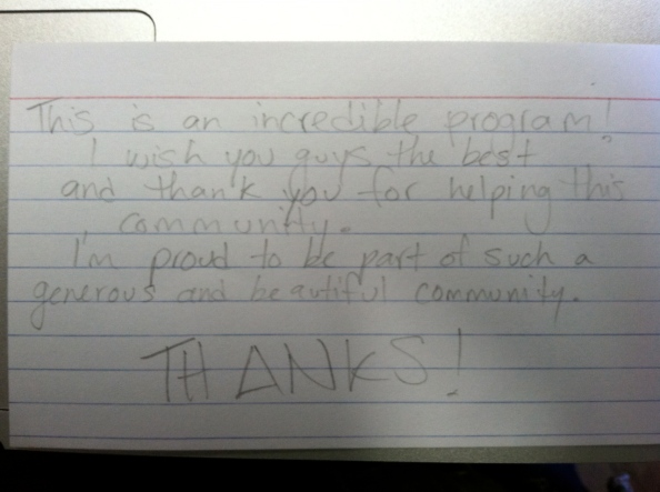 We LOVE notes like this one!