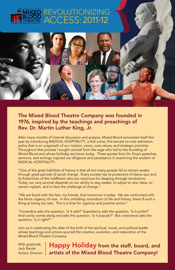 Mixed Blood Celebrates Dr. King's Legacy