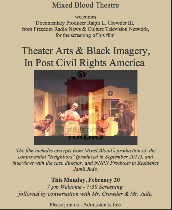 """""""Neighbors"""" inspired documentary to be screened at Mixed Blood THeatre Feb. 20 @ 7:00PM"""