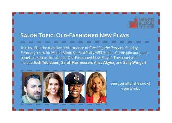Salon topic for Sunday, Feb. 12: Old-Fashioned New Plays