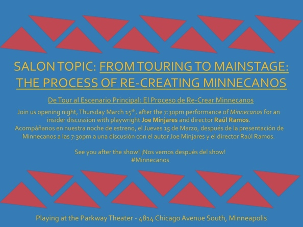 """Join us tonight at the Parkway Theater for """"Minnecanos"""" and the salon!"""
