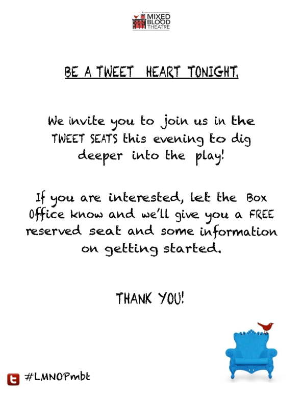 """Be a """"Tweet-heart"""" and join us in the tweet seats tomorrow!"""